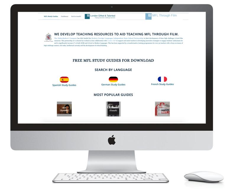 imac showing mfl homepage